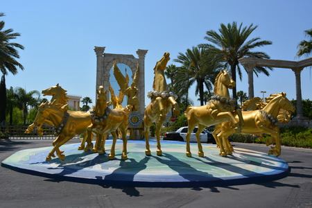 the holy land: The Holy Land experience, Group of golden horses Editorial