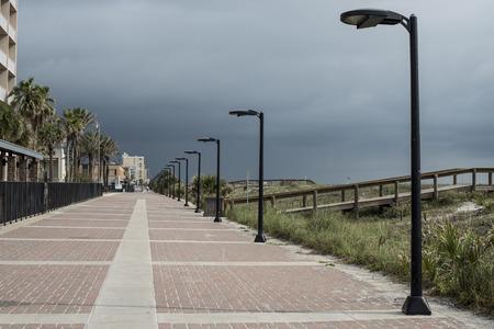 Famous Jacksonville beach main street, Florida, USA.