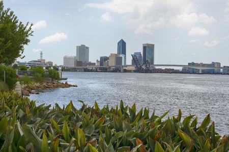 Jacksonville, Florida, USA downtown city skyline on St. Johns River Editorial
