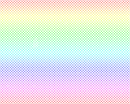 repetition dotted row: Seamless polka dots with gradient colorful Canvas pattern background