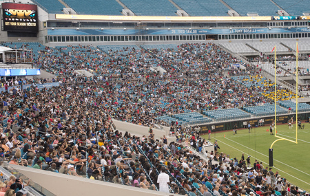 nfl: View of EverBank Field Stadium, home of Jacksonville Jaguars, NFL Team, Jacksonville, Florida Editorial