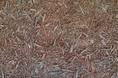 Wood mulch texture for garden decorating
