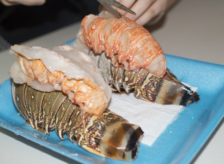cooking the lobster tail
