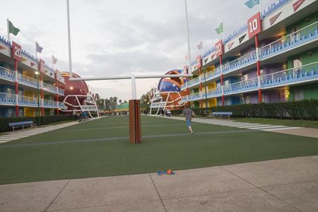 Orlando, Florida - Feb 27 2018: Disney all star movies resort