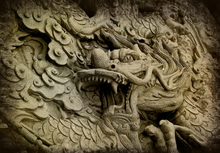 godliness: Dragon carved in China temple