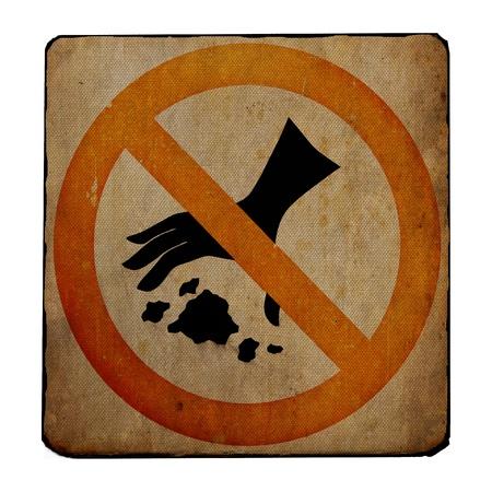 garbage man: No Littering sign