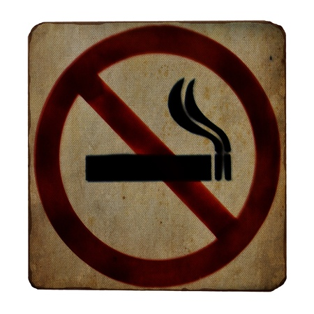 No smoking sign on canvas