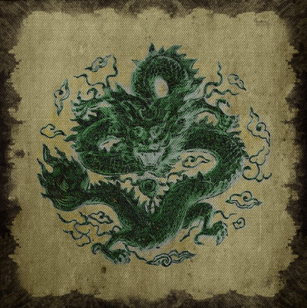dragon background, canvas texture  Stock Photo