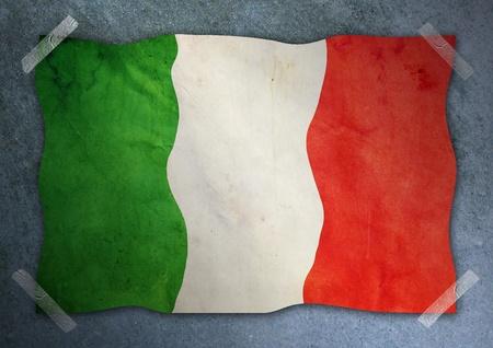 flag of iceland: islandia bandera en la pared de cemento
