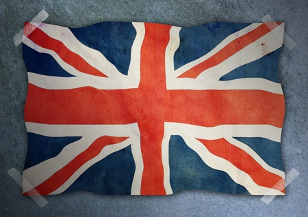 United Kingdom flag on cement wall  Stock Photo
