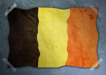 Belgium flag on cement wall Stock Photo - 12679183