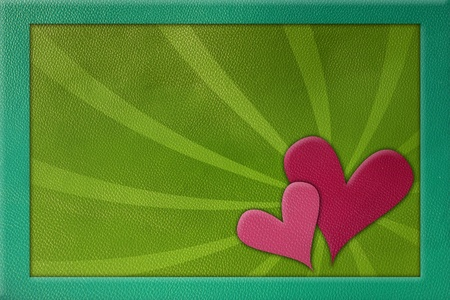 heart on leather background  photo