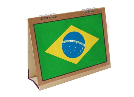Brazilian table flag isolated Stock Photo
