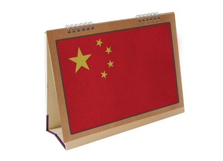 Chinese table flag isolated