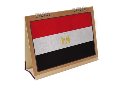 Egypt table flag isolated