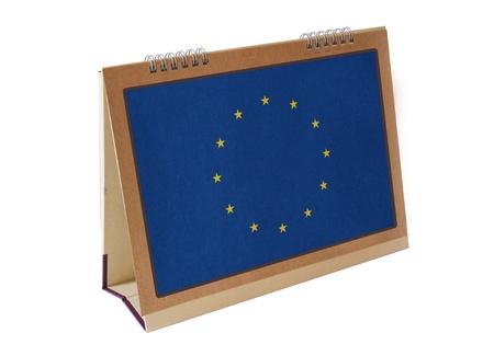 Drapeau de table en Europe de l'Union isol� Banque d'images
