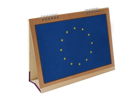 Europe Union table flag isolated