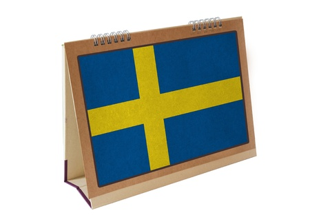 Sweden table flag isolated