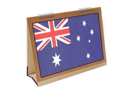 Australia table flag isolated