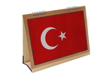 Turquie drapeau de table isol�e