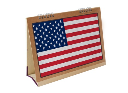 american table: american table flag isolated
