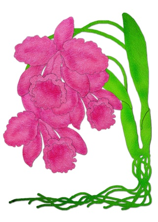 Orchid flower - watercolor paint photo