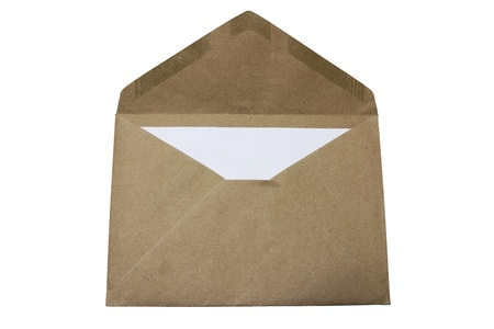 brown envelope ,isolate