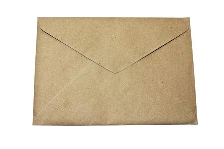 enveloppe brune, isoler Banque d'images