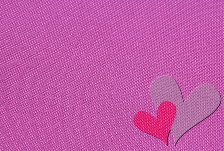 heart jean pattern on pink jean background  Stock Photo