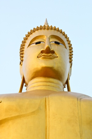 Big buddha statue , Thailand   Stock Photo