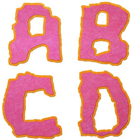 Joyful font - letter from A to Z photo