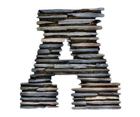 la lettre A en pierre puzzle Banque d'images