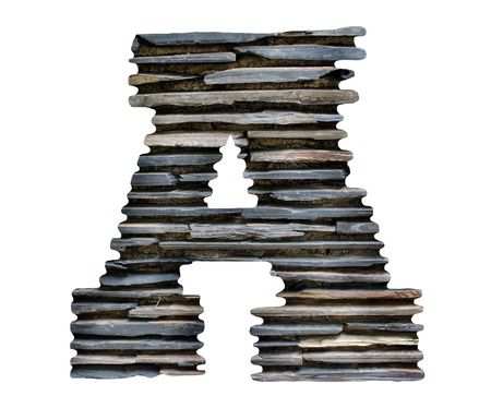 letter A jigsaw stone photo