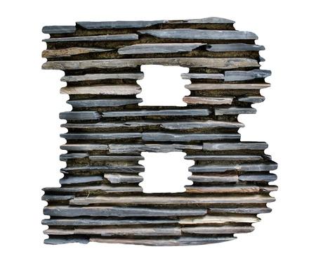 letter B jigsaw stone Stock Photo - 14095669