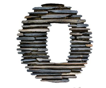 letter O jigsaw stone
