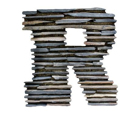 lettre R puzzle pierre Banque d'images