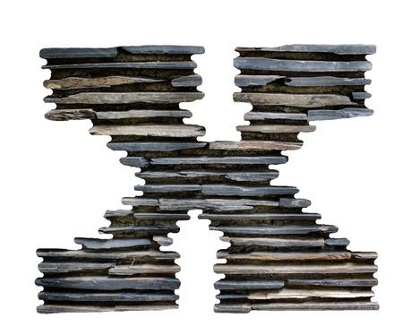 pierre puzzle lettre X Banque d'images