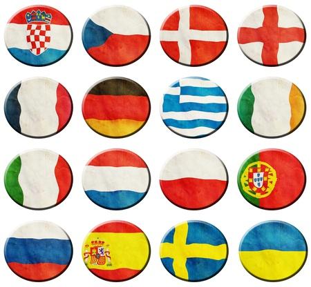 European Football Group on white background Stock Photo - 14240555