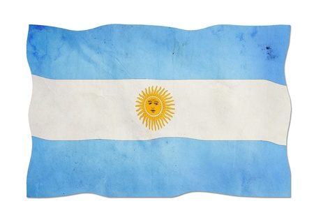 argentinian flag: Argentinian flag made of paper   Stock Photo