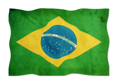 Brazilian flag made of paper  photo