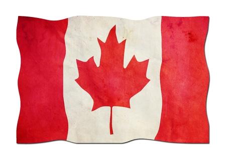 identidad cultural: Bandera de Canadá de papel Foto de archivo