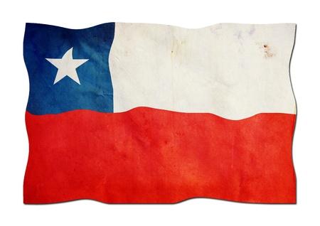 chilean flag: Bandera chilena de papel