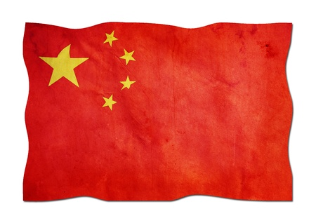 Chinese Flag made of Paper  photo