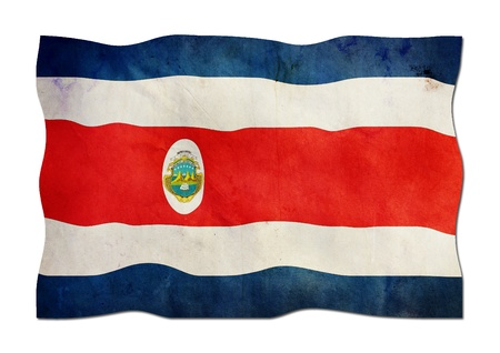 Costa Rica Flag made of Paper