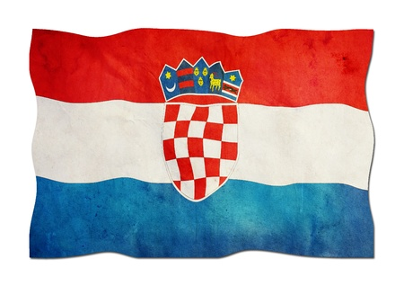 Croatian Flag made of Paper  photo