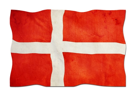 Danish Flag made of Paper