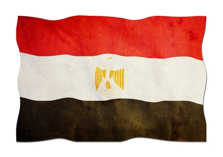 Egyptian Flag made of Paper  Stock Photo