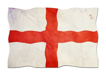 Flag of England made of Paper  Stock Photo