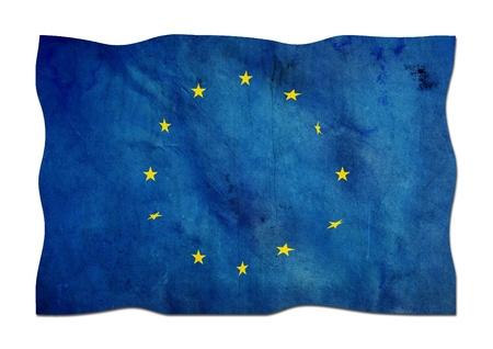 European Union Flag made of Paper  photo