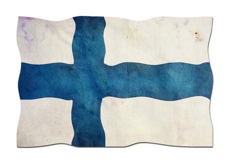 Drapeau finlandais a pris du papier